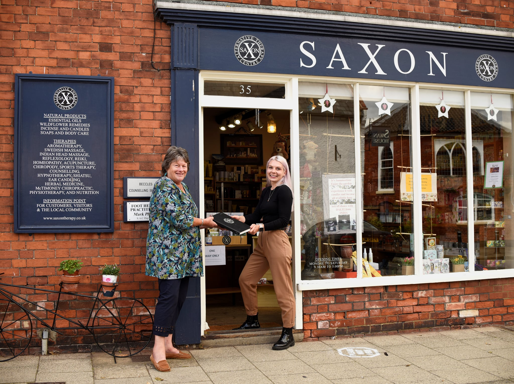 New Owner at Saxons Alternative Therapy Centre, Beccles