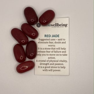 Red Jade Tumblestone Crystal