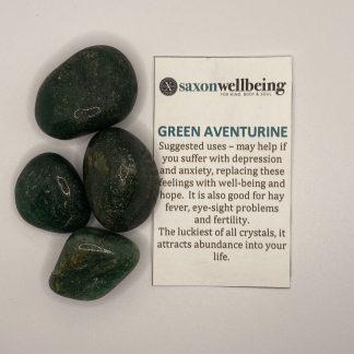 Saxon Wellbeing Green Aventurine