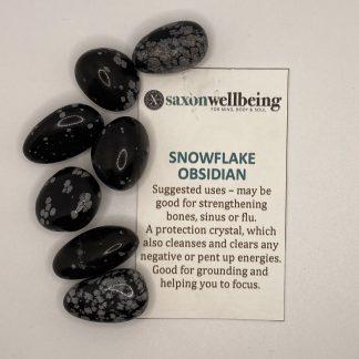 Snowflake Obsidian Tumblestone Crystal