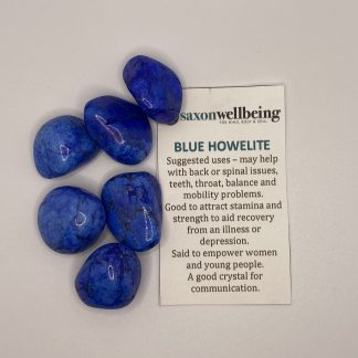 Saxon Wellbeing Blue Howelite